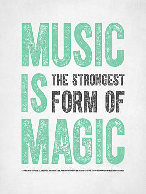 Music Is Magic Print by Aged Pixel