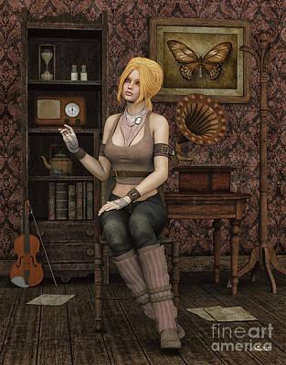 Violin Digital Art - Music Lover by Jutta Maria Pusl