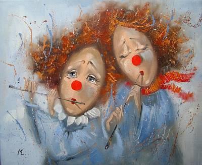 Klown Painting - Music Of Winter by Monika Luniak