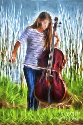 Music Painting - Music On The Lake by Eric Chegwin