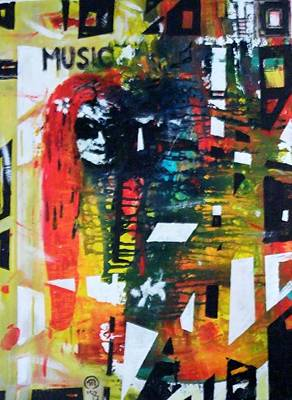 Painting - Music by Paul Pulszartti