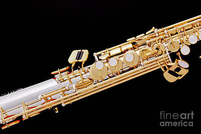 Saxophone Photograph - Music Photograph Of Soprano Saxophone In Color 3341.02 by M K  Miller
