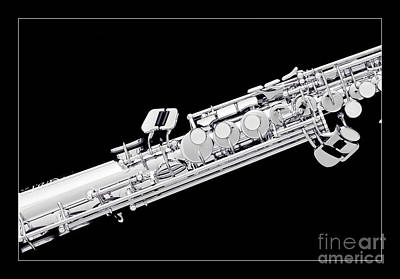 Saxophone Photograph - Music Photograph Of Soprano Saxophone In Sepia 3341.01 by M K  Miller
