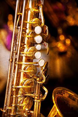 Music - Sax - Sweet Jazz  Print by Mike Savad