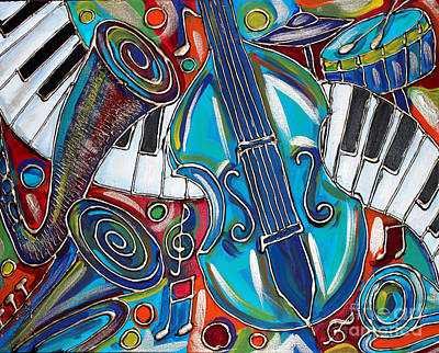 Music Time 1 Print by Cynthia Snyder