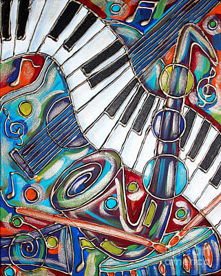 Music Time 3 Print by Cynthia Snyder