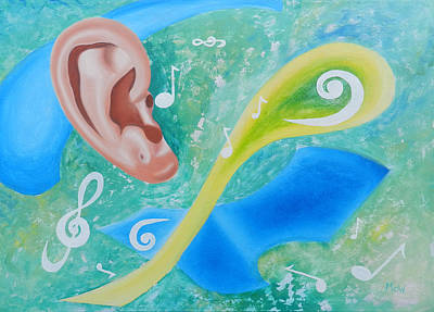 Oil Painting - Music To My Ear by Leana De Villiers