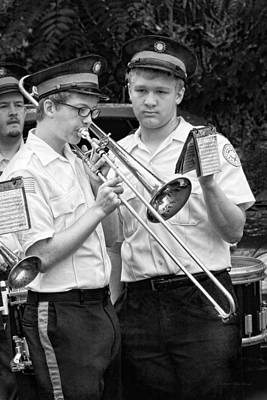Trombone Photograph - Music - Trombone - A Helping Hand  by Mike Savad