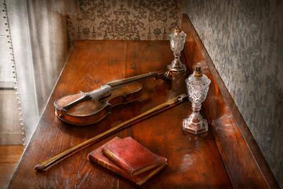 Violin Bows Violin Bows Photograph - Music - Violin - A Sound Investment  by Mike Savad