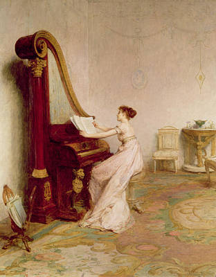 Woman Playing Piano Painting - Music When Soft Voices Die, Vibrates by Sir William Quiller Orchardson