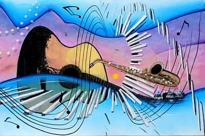 Musica Print by Angel Ortiz