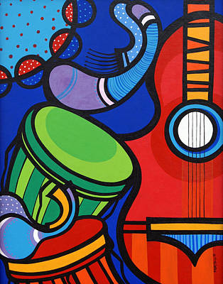 Colorfull Painting - Musica by Mary Tere Perez