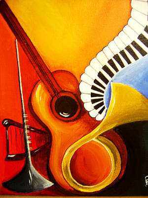 Musical Instruments Print by Rajni A