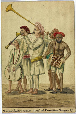 Musical Instruments Used At Processions Print by British Library