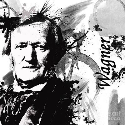 Musical Digital Art - Musical Masters - Wagner by Joshua Wood