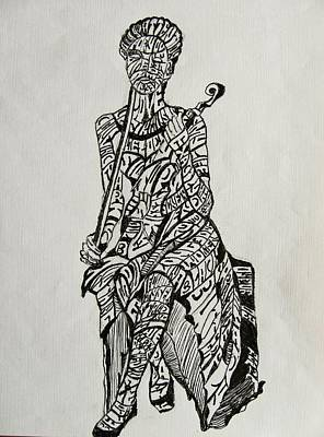 Musician Print by Lourents Oybur
