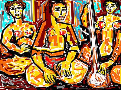 Musicians Print by Anand Swaroop Manchiraju