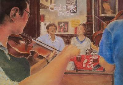 Musicians Table Original by Audrey Kennedy