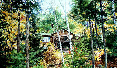 Architectural Artist Painting - Muskoka Cottage Retreat by Hanne Lore Koehler