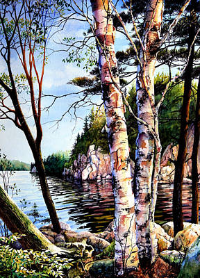 Muskoka Painting - Muskoka Reflections by Hanne Lore Koehler