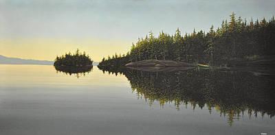 Fog Painting - Muskoka Solitude by Kenneth M  Kirsch