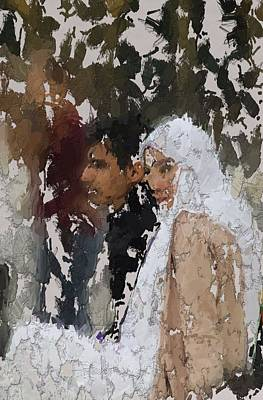 Islam Digital Art - Muslim Couple by Stefan Kuhn