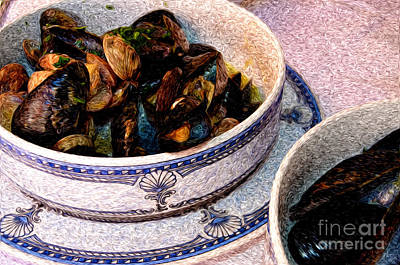 Mussels And Clams In Italy Print by Sabine Jacobs