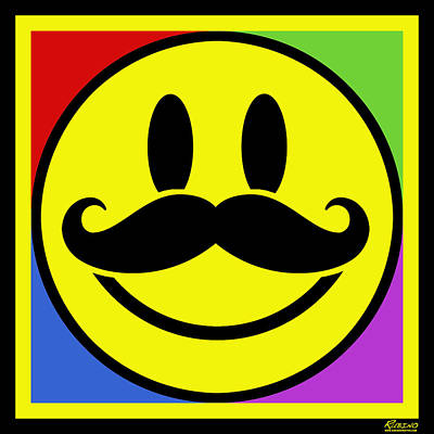 Mustache Smile Original by Tony Rubino