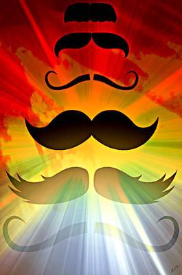 Epic Digital Art - Mustache Stash  by Ally  White