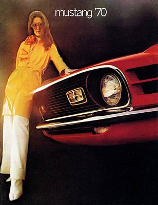 8 Track Player Digital Art - Mustang '70 by Digital Repro Depot