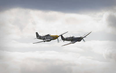 Ferocious Frankie Photograph - Mustang And Spitfire by Maj Seda