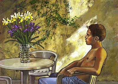 Mustapha's Garden Print by Douglas Simonson