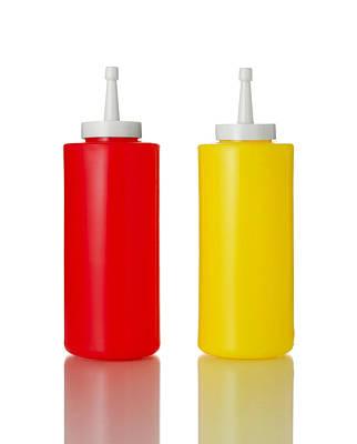 Hot Dogs Photograph - Mustard And Ketchup by Jim Hughes