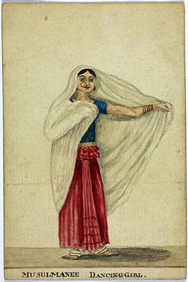 Musulmanee Dancing-girl Print by British Library