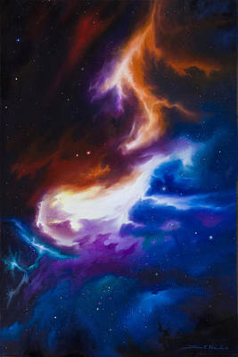 Sphere Painting - Mutara Nebula by James Christopher Hill