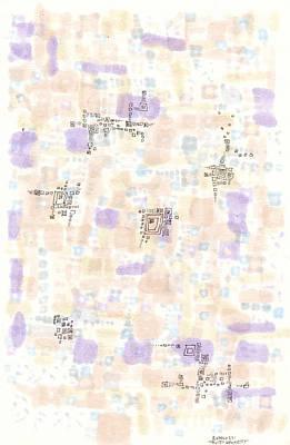 Muted Geometry Print by Regina Valluzzi