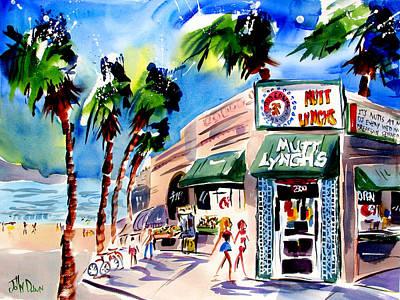 Hangouts Painting - Mutt Lynchs Newport Beach by John Dunn