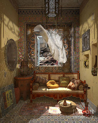 My Art In The Interior Decoration - Morocco - Elena Yakubovich Print by Elena Yakubovich