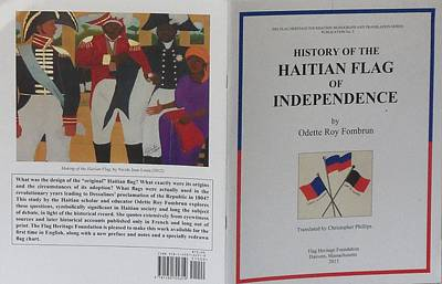 Jacmel Painting - My Artwork The Making Of The Haitian Flag In Publication by Nicole Jean-Louis