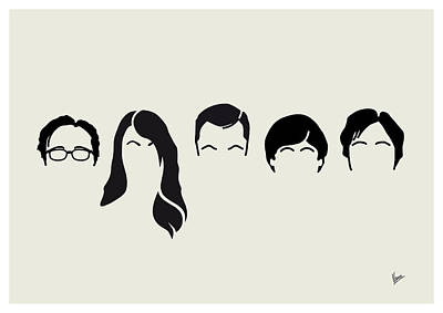 My-big-bang-hair-theory Print by Chungkong Art