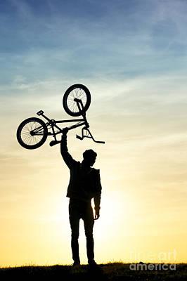 Contour Photograph - Bmx Biking by Tim Gainey