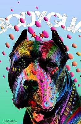 Pet Portraits Digital Art - My Bodyguard by Mark Ashkenazi
