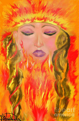 My Burning Within Print by Lori  Lovetere