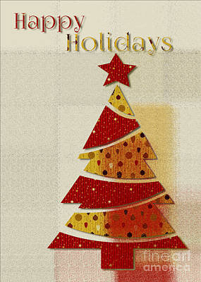 Christmas Cards Digital Art - My Christmas Tree - Happy Holidays Greeting Card by Aimelle