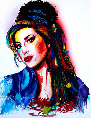 Back To Life Painting - My Colors For Amy by Isabel Salvador