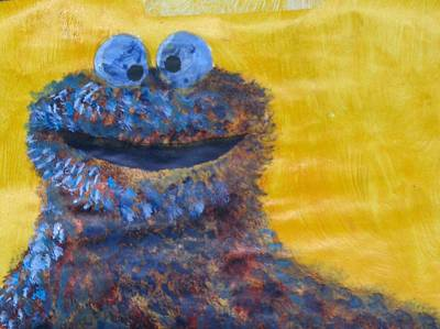 Muppets Painting - My Cookie Monster Painting by David Lovins