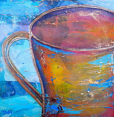 Tissue Art Painting - My Cup Of Tea by Debi Starr