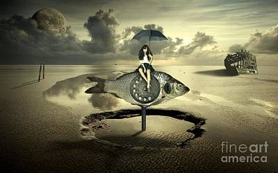 End Times Digital Art - My Dear Fish by Franziskus Pfleghart