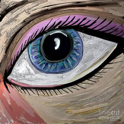 Discernment Digital Art - My Eye by Kim Peto