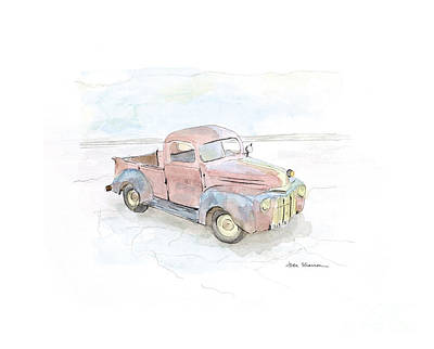 Old Trucks Painting - My Favorite Truck by Joan Sharron